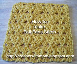 Learning Crochet: Tall Fans Stitch | Crochet Blogs | New to Blogging | Make Money Working From Home | Crochet Business Interviews | Affiliates Partners | Selling Crochet Tips