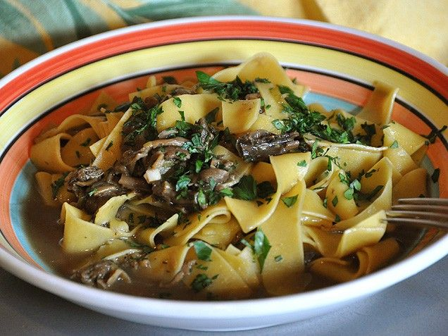 Pasta with Porcini Mushroom Sauce This is an elegant pasta dish for a ...