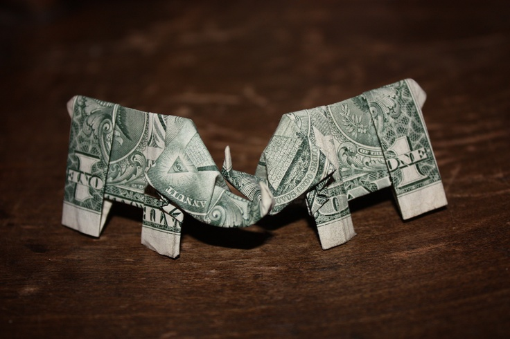 pin money origami elephant hd on pinterest