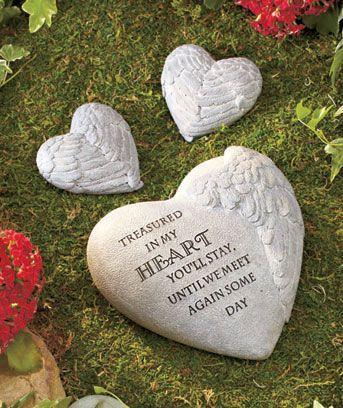 3 Pc Memorial Garden Stone Set Life Love Pinterest