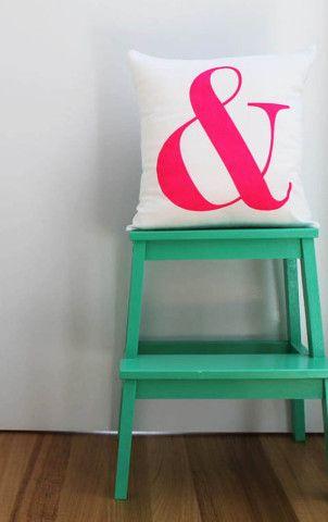 Ampersand Cushion Pink