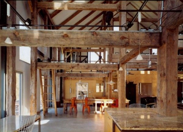 Barn home converted into modern house barns pinterest for Barn house interior