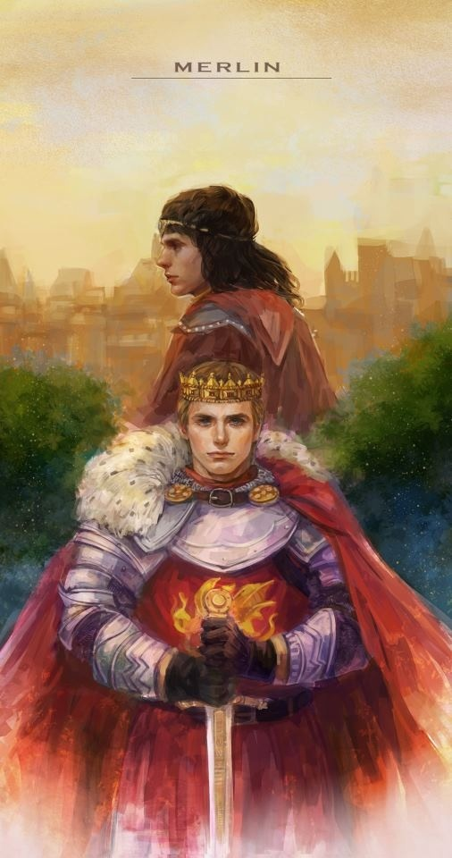 King arthur and merlin