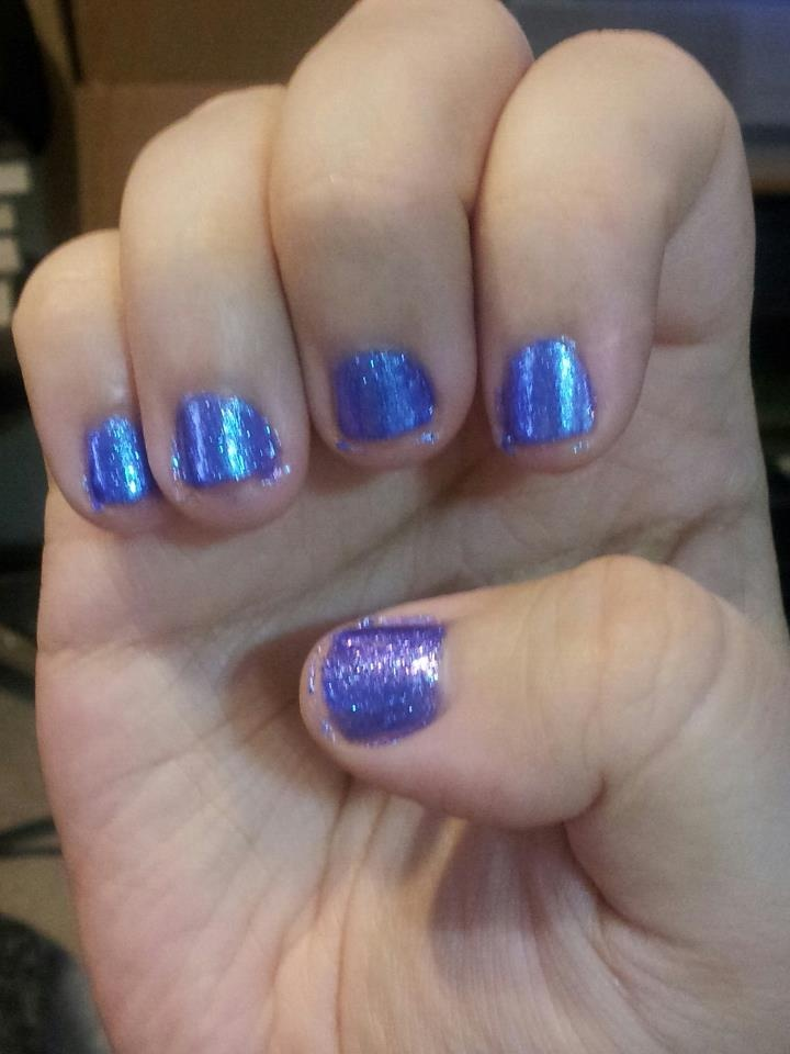 Unicorn Shampoo nail polish by Retrograde Fermata. This is such a great shade of violet and I love the sparkle to it.