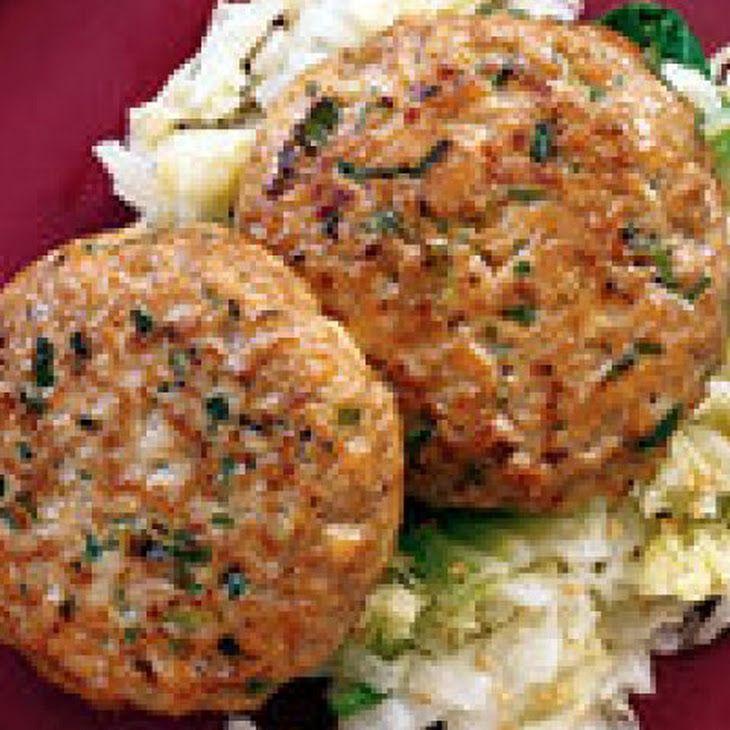 Mu Shu Chicken Patties with Seared Napa Cabbage II Recipe