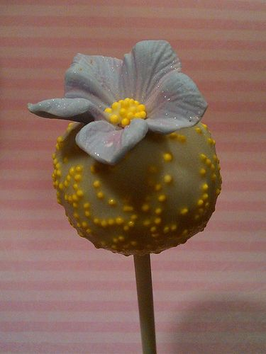Decorate with a sugar flower