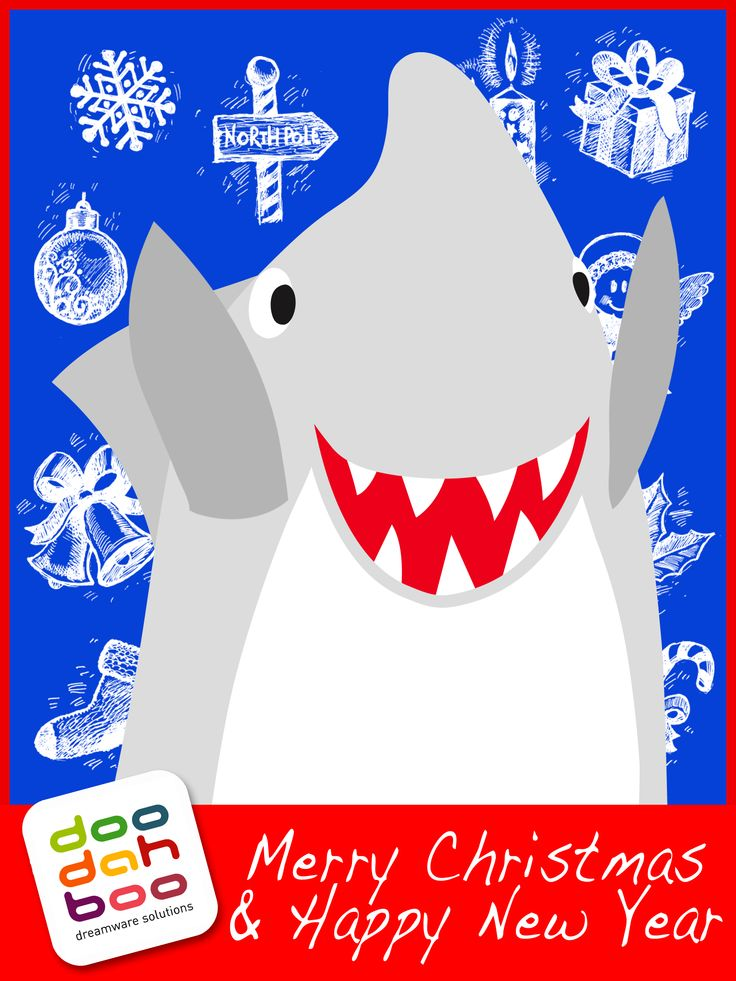 Shark Christmas Greetings Card | Merry Christmas & Happy New Year | P ...: pinterest.com/pin/483855553687196870