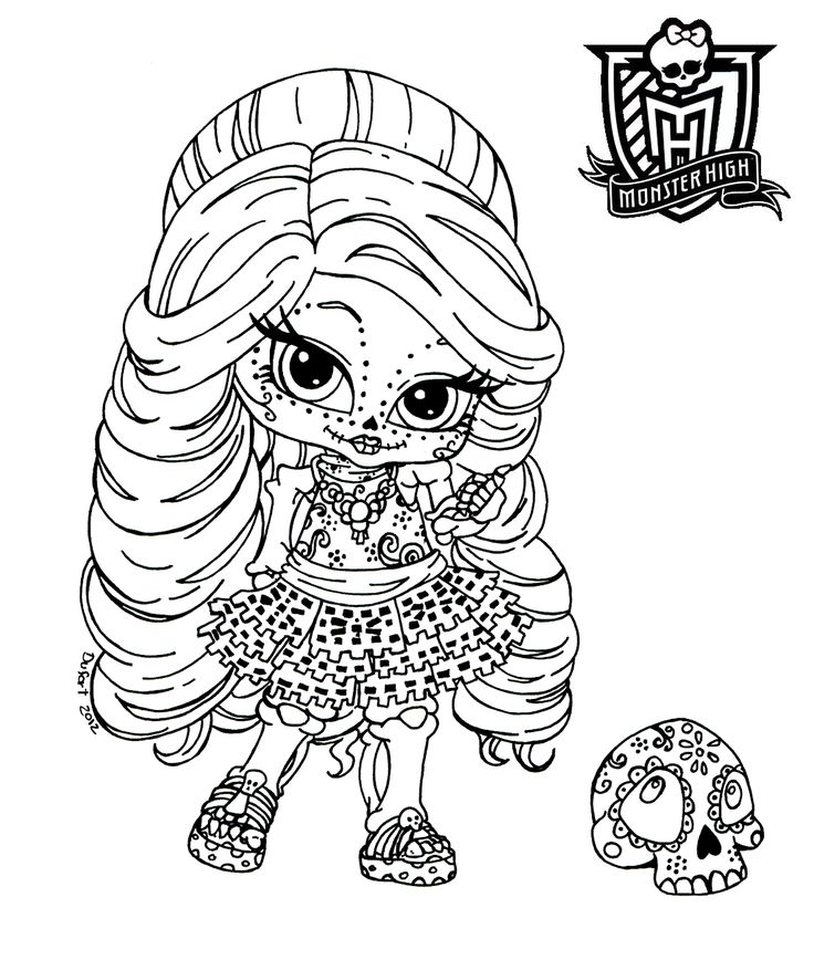 Monster high coloring pages baby imagui for Monster high babies coloring pages