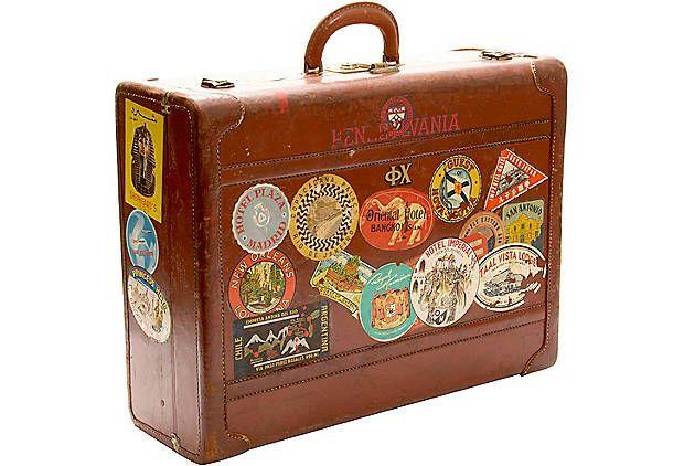 Vintage suitcase vintage luggage labels pinterest for The vintage suitcase