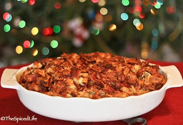 Maple Waffle Breakfast Casserole with Sausage and Bacon--Luke Approve ...