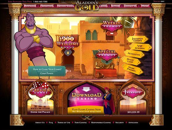 aladdin gold casino login
