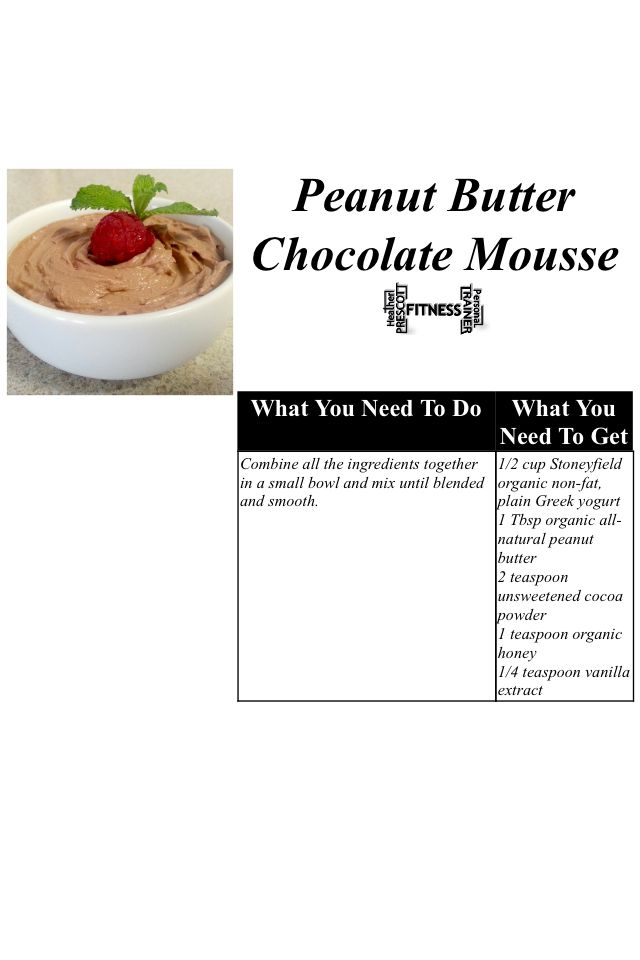 Peanut Butter Chocolate Mousse | Gosh I Love Chocolate and Peanut But ...