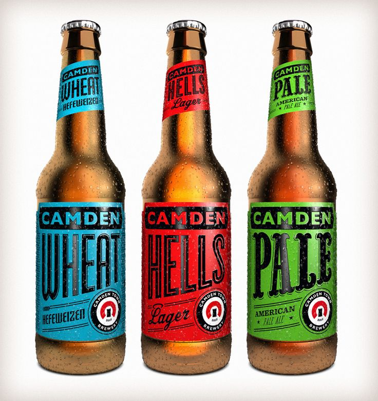 Camden Town Brewery Bottles, designed by Tenfold Creative.