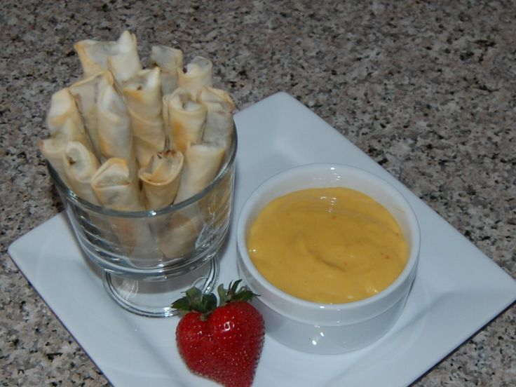 ... with honey mustard dipping sauce. A perfect combination. So delicious