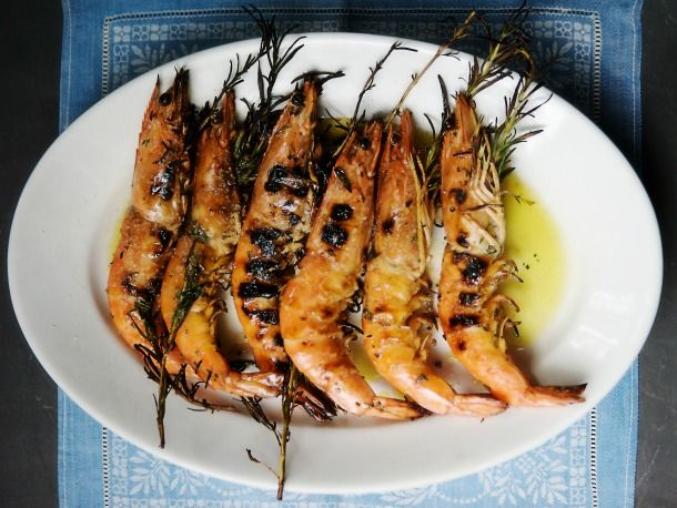 Grilled Shrimp with Rosemary--a recipe for when I'll be closer to the ...
