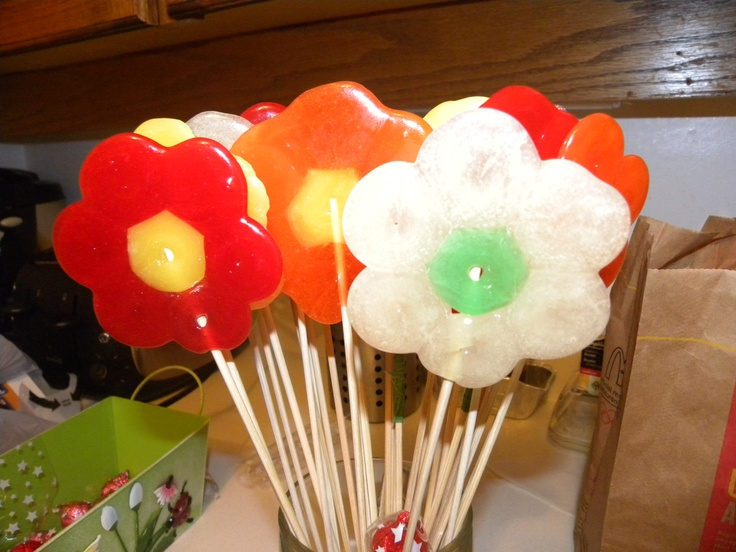 candy flowers made from lifesavers | Kylee bday | Pinterest
