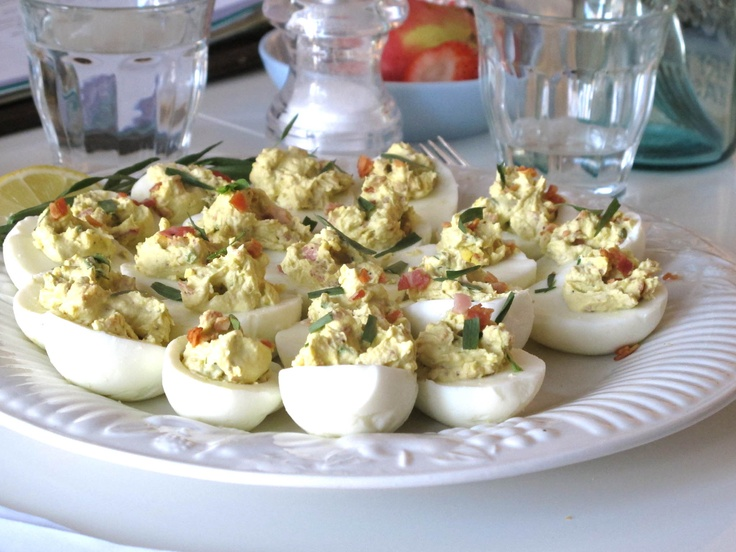 Deviled Easter Eggs with Pancetta and Tarragon | Recipe