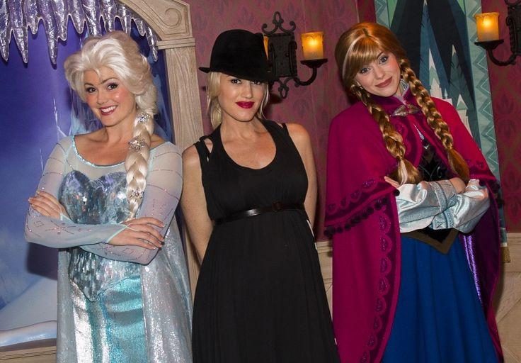 The happiest place on Earth just got a little cooler. Gwen Stefani chills with Elsa and Anna, characters from the new Disney film Frozen, at Disneyland on Nov. 25 in Anaheim, Calif.