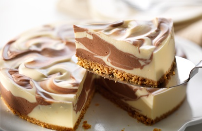 Chocolate Marbled Cheesecake | Crafts | Pinterest