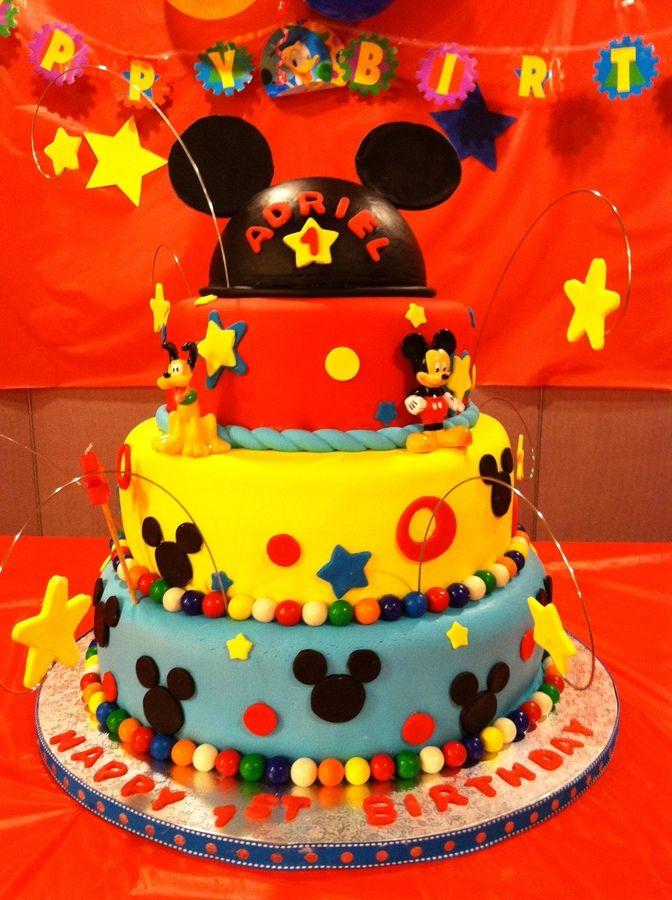 Mickey Mouse Birthday Cake! Landon s 1st Birthday ...
