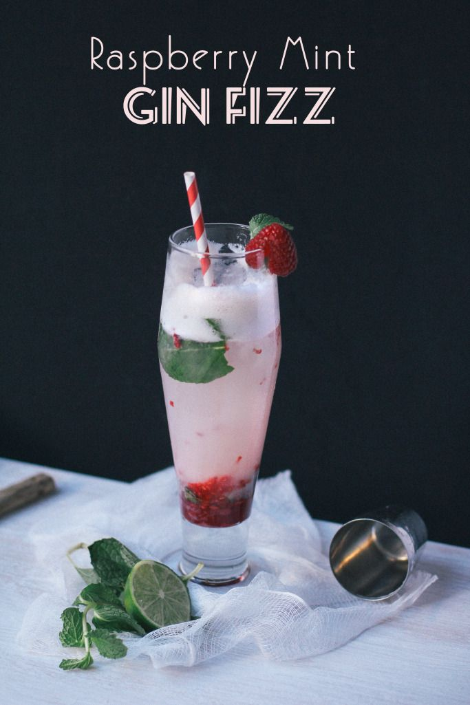 Raspberry Mint Gin Fizz by Vignette Blog | v i g n e t t e | Pinterest