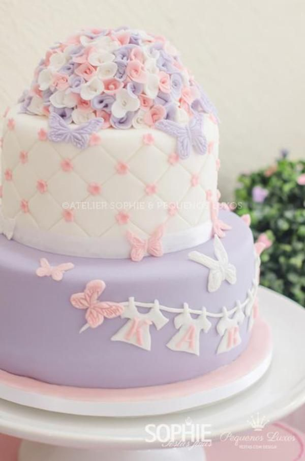 butterfly themed baby shower the cake