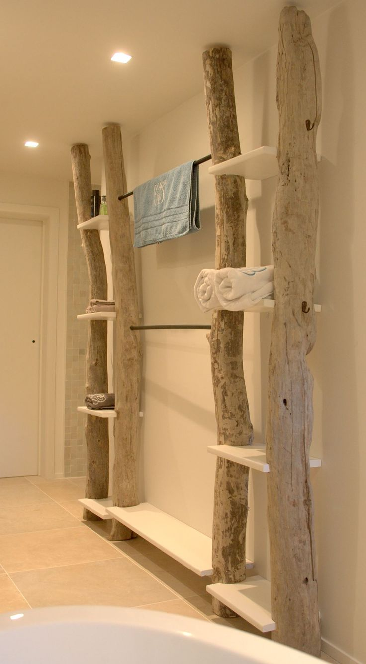 Etag re bois flott room design bathroom pinterest for Etagere murale bois flotte
