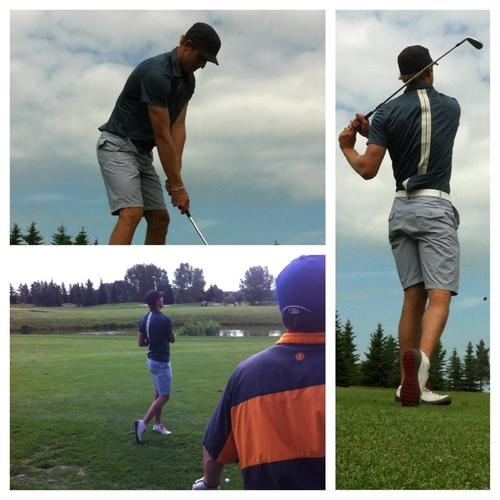 Brandon Sutter at the Sutter Family Fund Golf Tourney 2012