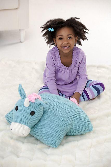 Ravelry: Unicorn Pillow Pal pattern by Nancy Anderson