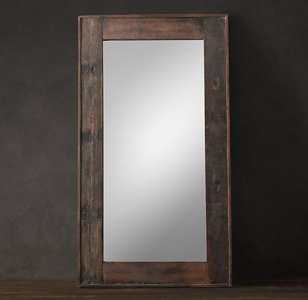 Salvaged boat wood mirrors large diy pinterest for Leaning wall mirror