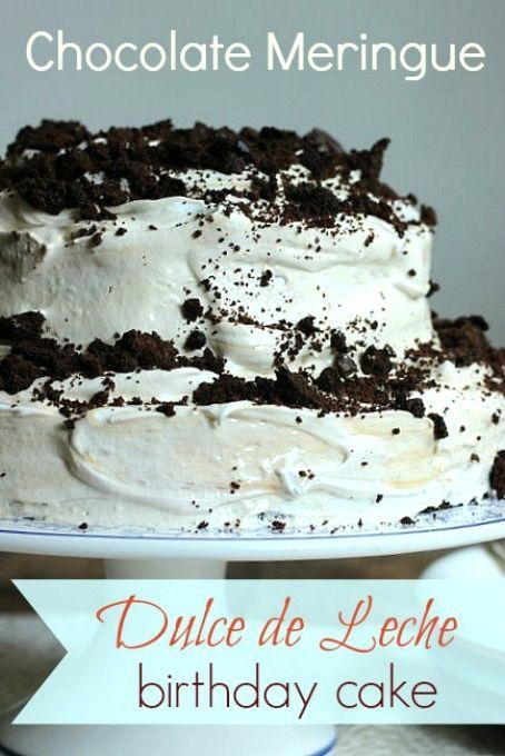 Chocolate & Dulce De Leche Birthday Cake Recipe — Dishmaps