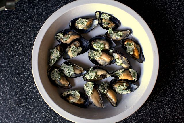 broiled mussels by smitten, delicious!   Delicious   Pinterest