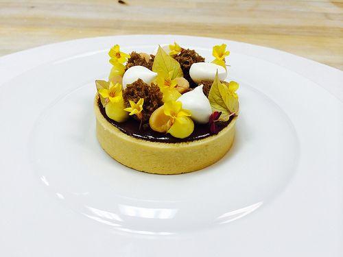Chocolate Macadamia Tart, Passion Fruit Cremeux, Coconut Meringue ...