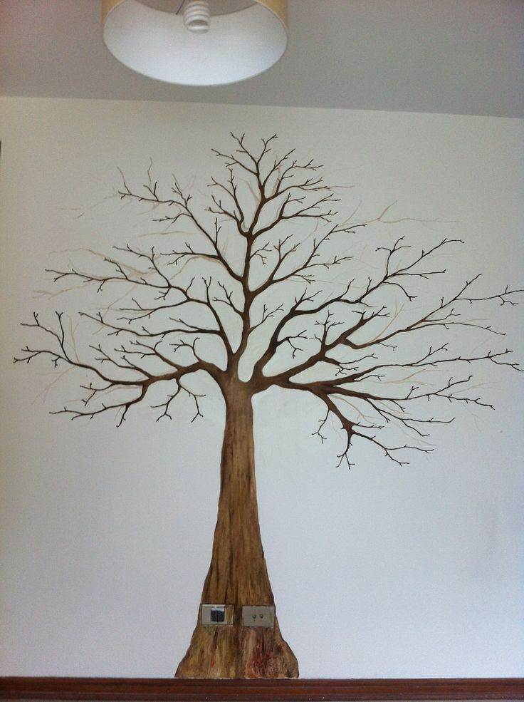 Arbol pintado en la pared decoracion pinterest - Posters gigantes para pared ...