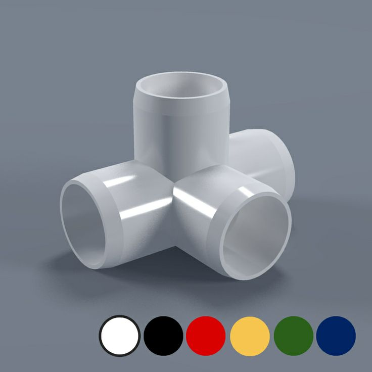 Quot way tee furniture grade pvc fitting connector