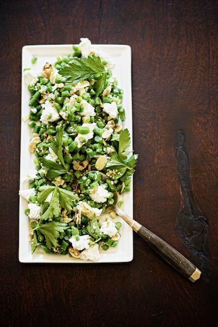 lentil, kale, crispy shallot salad
