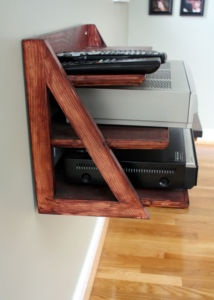 custom entertainment wall mount shelf rustic outdoor. Black Bedroom Furniture Sets. Home Design Ideas
