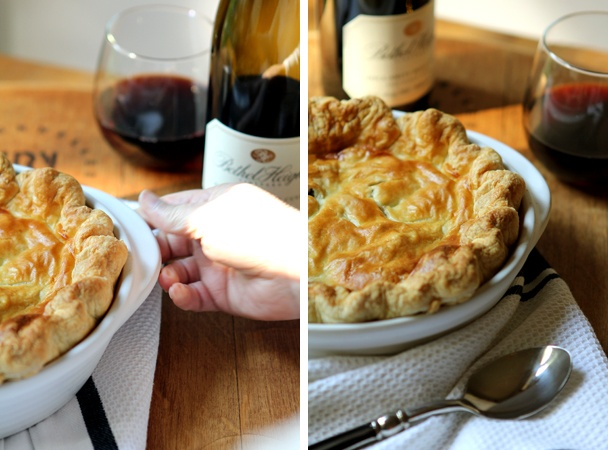 post image for full on falcon crest and a beef amp red wine pot pie