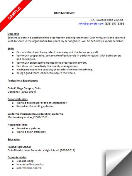 high school students resume sample resume examples pinterest