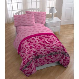 Duck Dynasty Pink Camo Polyester Bedding Sheet Set