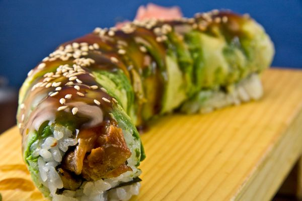 Caterpillar Roll! sushi is a constant need... can't get enough!!