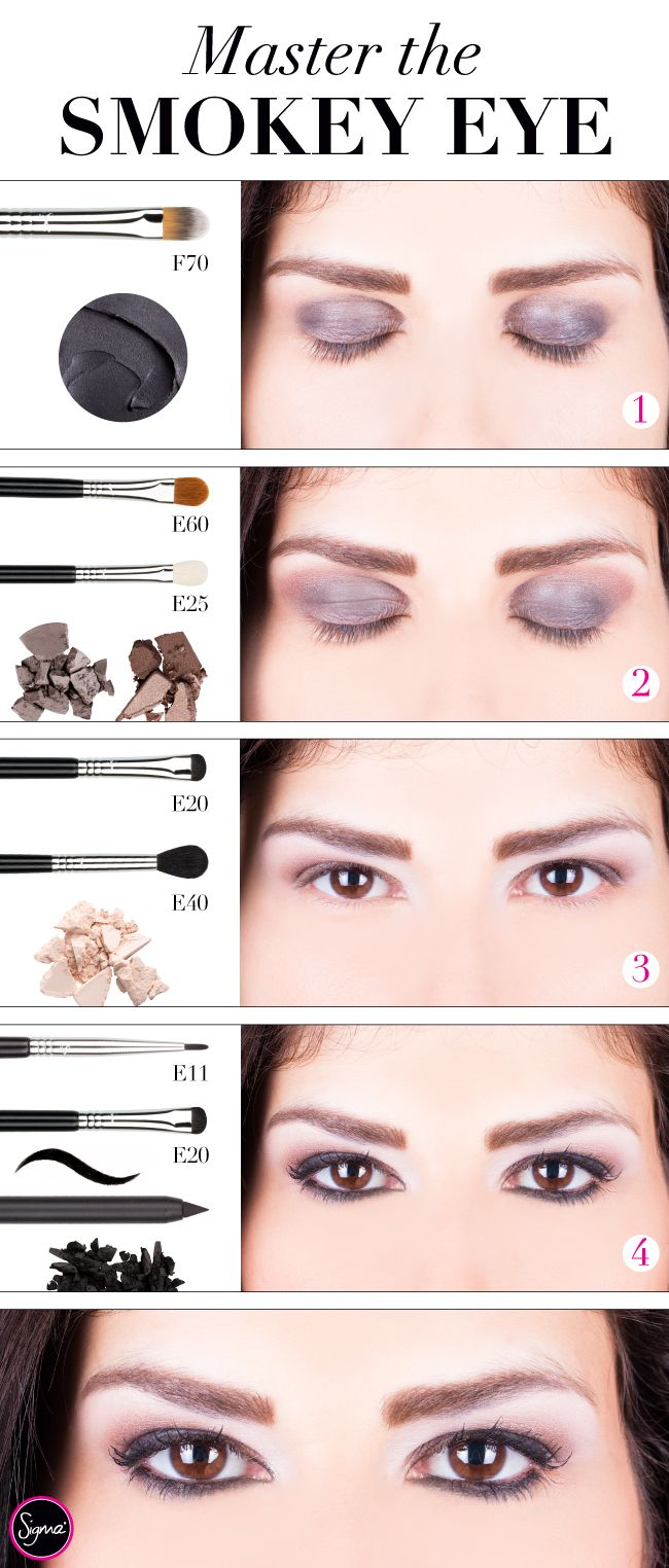 Eye Makeup Step By Step Guide Master the smokey eye with our easy step ...