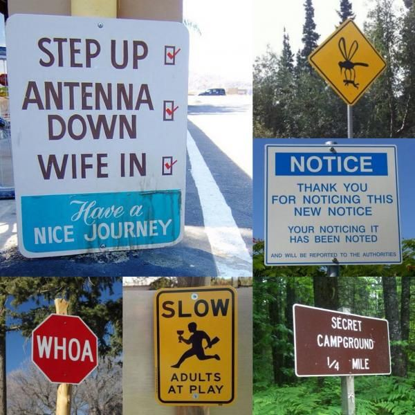 funny camping signs