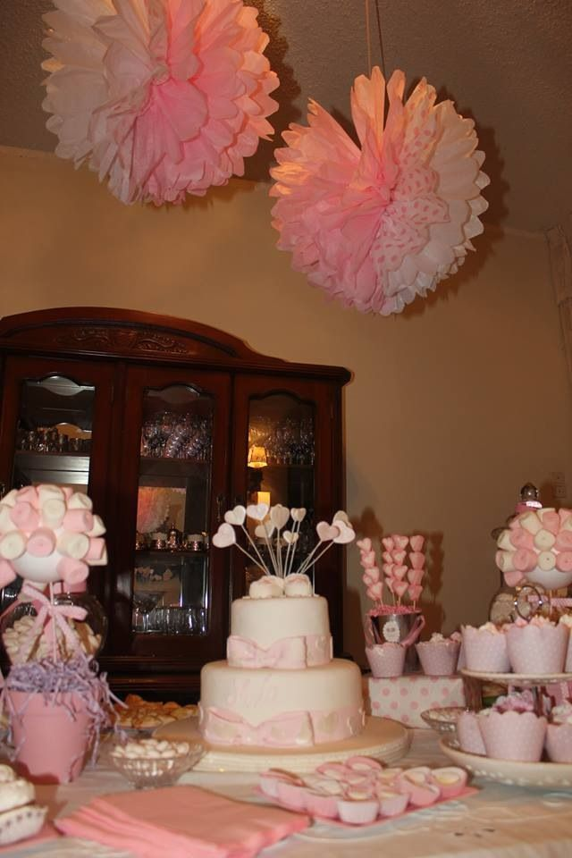Baptism table decoration party ideas pinterest for Baby girl baptism decoration ideas