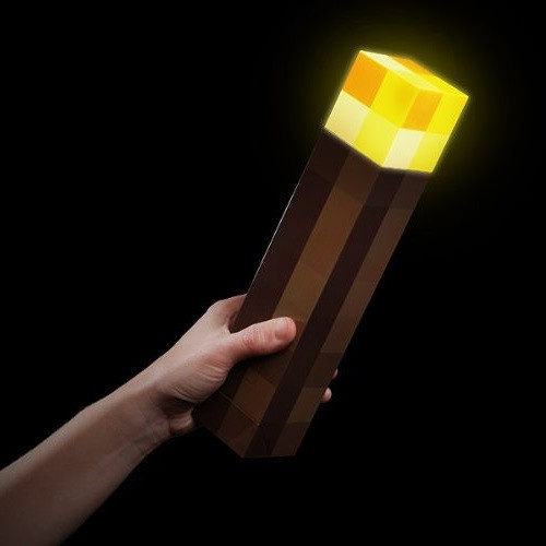 Minecraft Wall Light Mod : Minecraft Light Up Torch Hand Held or Wall Mount