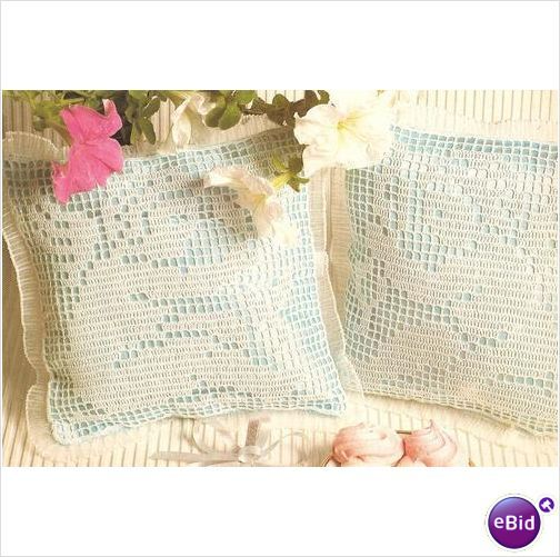 Crochet Pillow Pattern Cupids At Play on eBid New Zealand