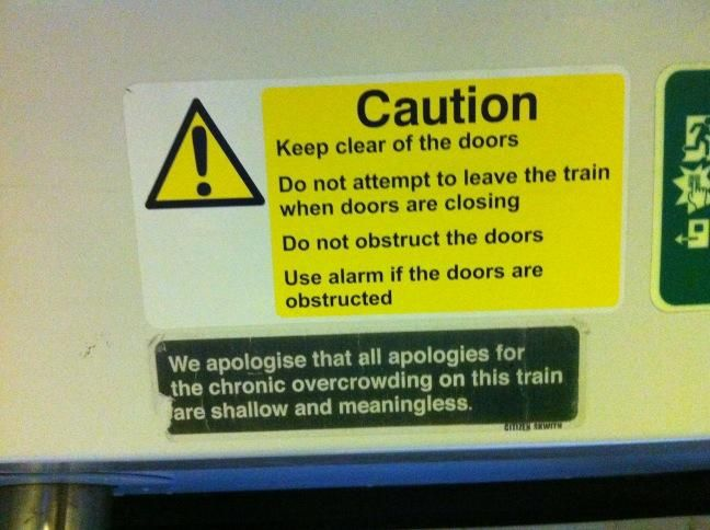 Funny signs on london transport