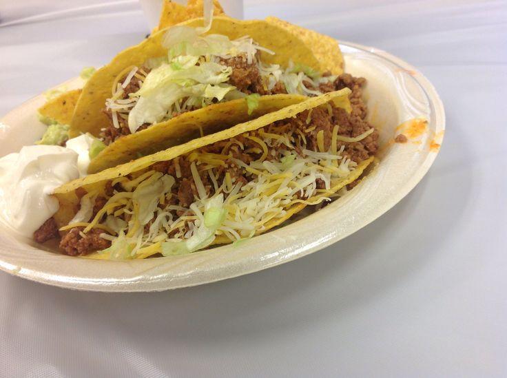 Tacos: Ortega taco shells, ground beef seasoned with Ortega taco ...