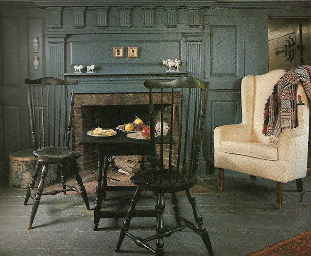 Like this room.....especially the color of the walls and the chairs ...