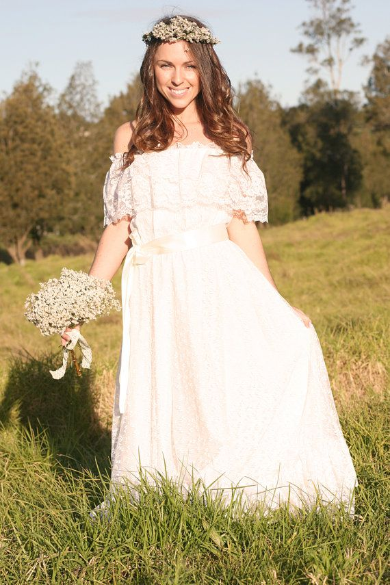 Vintage wedding dress charlotte 1970s for 1970s vintage wedding dresses